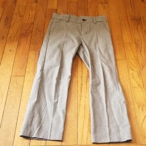 Janie and jack boys houndstooth brown navy pants 6